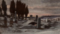 Fine Art - Painting, American:Antique  (Pre 1900), Attributed to ELIHU VEDDER (American, 1836-1923).Desolation, circa 1872. Oil on paper laid down on board. 7 x11-7/8 in...