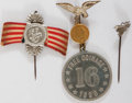 Political:Ribbons & Badges, William Jennings Bryan: 1896 Badges.... (Total: 3 Items)