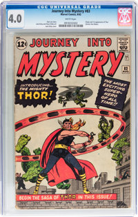 Journey Into Mystery #83 (Marvel, 1962) CGC VG 4.0 White pages
