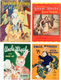 Memorabilia:Miscellaneous, Story/Activity Book Group (Various Publishers, 1930s-40s)Condition: Average VG/FN.... (Total: 7 Items)