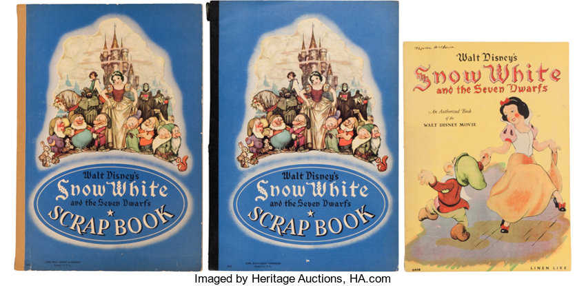 Snow White And The Seven Dwarfs Linen Like Storybook And Scrapbook