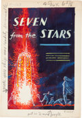 Original Comic Art:Miscellaneous, Emsh (Ed Emshwiller) Seven From the Stars Cover PreliminaryOriginal Art (Ace Books, c. 1979)....