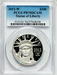 2012-W $100 One-Ounce Platinum Statue of Liberty PR70 Deep Cameo PCGS. PCGS Population (155). NGC Census: (275). Numisme...