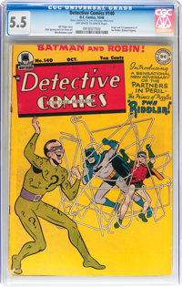 Detective Comics #140 (DC, 1948) CGC FN- 5.5 Off-white to white pages