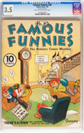 Platinum Age (1897-1937):Miscellaneous, Famous Funnies #30 (Eastern Color, 1937) CGC VG- 3.5 Light tan tooff-white pages....