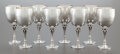 Silver Holloware, Continental:Holloware, A SET OF EIGHT GEORG JENSEN SILVER WINE STEMS DESIGNED BY HARALDNIELSEN. Georg Jensen, Inc., Copenhagen, Denmark, post 194...(Total: 8 Items)