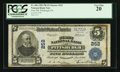 National Bank Notes:Pennsylvania, Pittsburgh, PA - $5 1902 Plain Back Fr. 606 The First NB Ch. # 252. ...