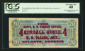 Confederate Notes:1864 Issues, Kimball House Ad Note T67 $20 1864.. ...