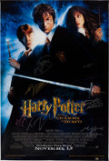 Books:Children's Books, [J. K. Rowling]. [Signed Movie Poster]. Harry Potter and the Chamber of Secrets. Warner Bros. Pictures, [2002]. One-... (Total: 2 Items)