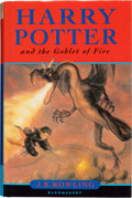 Books:Children's Books, J. K. Rowling. Harry Potter and the Goblet of Fire.London: Bloomsbury, [2000]. First edition. Inscribed by Ro...