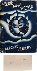Books:Literature 1900-up, Aldous Huxley. Brave New World. London: Chatto & Windus,1932. First edition, first printing. Huxley's clipped sig...