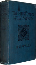 Books:Science Fiction & Fantasy, H. G. Wells. The First Men in the Moon. London: GeorgeNewnes, 1901. First edition, Currey binding (C). Octavo. 342 ...