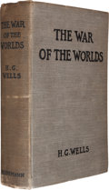 Books:Science Fiction & Fantasy, H. G. Wells. The War of the Worlds. London: William Heinemann, 1898. First edition, first state. Currey binding (A)....
