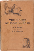 Books:Children's Books, A. A. Milne. The House at Pooh Corner. With Decorations byErnest H. Shepard. London: Methuen & Co. Ltd., [1928]. Fi...