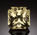 Gems:Faceted, RARE GEMSTONE: YELLOW FLUORITE - 62.28 CT.. Cave-in-Rock, HardinCo., Illinois, USA. ...