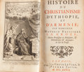 Books:Religion & Theology, Maturin Veyssiere La Croze. Historie du Christianisme d'Ethiopieet d'Armenie. The Hague, 1739. First edition. Fr...