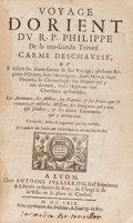 Books:Travels & Voyages, R. P. Philippe. Voyage d'Orient... Lyon, 1669. Firstedition in French. From the collection of a gentleman of ...