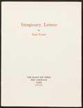 Books:Literature 1900-up, [Black Sun Press]. Ezra Pound. Imaginary Letters. Paris,1930. First edition, number 300 of 300 limited edition ...