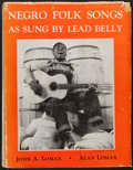 Books:Americana & American History, [Lead Belly]. John A. Lomax and Alan Lomax, editors. Negro FolkSongs as Sung by Lead Belly. New York: The Macmi...