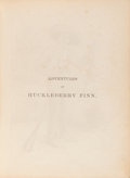 Books:Literature Pre-1900, Mark Twain. Adventures of Huckleberry Finn. New York, 1885.First American edition....