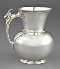 A GORHAM SAXON STAG PATTERN COIN SILVER PITCHER Gorham Manufacturing Co., Provid