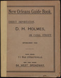 Books:Americana & American History, [Lafcadio Hearn, contributor]. Historical Sketch Book and Guideto New Orleans and Environs. Coleman, 1885. First ed...