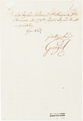 Autographs, George III, King of England, Letter Signed.... (Total: 2 Items)