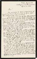 Autographs:Non-American, Louis Kossuth Autographed Letter Signed.... (Total: 2 Items)