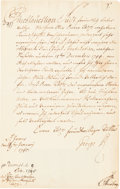 Autographs:Non-American, George II of England Document Signed....