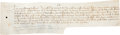 Autographs:Non-American, [Charles VI of France]. Document from Reign of King Charles VI ofFrance....