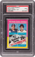Baseball Cards:Unopened Packs/Display Boxes, 1975 Topps Cello Pack, Gary Carter Rookie on Front PSA Mint 9....