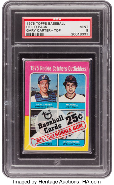 1975 Topps Cello Pack Gary Carter Rookie On Front Psa Mint
