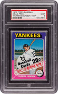 Baseball Cards:Unopened Packs/Display Boxes, 1975 Topps Cello pack With Thurman Munson Top Card PSA Mint 9....