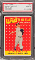 Baseball Cards:Singles (1950-1959), 1958 Topps Mickey Mantle All Star #487 PSA Mint 9 - Highest GradeAvailable! ...