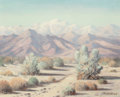 American:Regional, EDWARD CARPENTER BEARDEN (American, 1919-1980). DesertLandscape. Oil on canvas board. 16 x 20 inches (40.6 x 50.8cm). ...