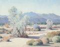 American:Regional, EDWARD CARPENTER BEARDEN (American, 1919-1980). Desert HillsideLandscape. Oil on canvas board. 15-1/2 x 20 inches (39.4...