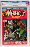 Bronze Age (1970-1979):Horror, Werewolf by Night #1 (Marvel, 1972) CGC VF+ 8.5 White pages....