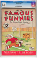 Platinum Age (1897-1937):Miscellaneous, Famous Funnies #39 (Eastern Color, 1937) CGC FN- 5.5 Off-whitepages....