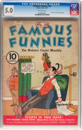 Platinum Age (1897-1937):Miscellaneous, Famous Funnies #38 (Eastern Color, 1937) CGC VG/FN 5.0 Off-white pages....