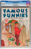 Platinum Age (1897-1937):Miscellaneous, Famous Funnies #26 Lost Valley pedigree (Eastern Color, 1936) CGCFN- 5.5 Cream to off-white pages....