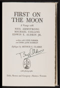 Autographs:Others, Buzz Aldrin Signed First On The Moon Book....