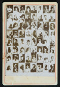 Non-Sport Cards:Singles (Pre-1950), 1890's N566 Newsboy Cabinets Checklist Card with US Presidents and Boxer John L. Sullivan. ...