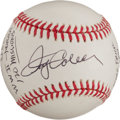 Autographs:Baseballs, Jerry Coleman Single Signed Baseball With Lengthy MilitaryInscription....