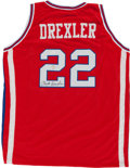 Basketball Collectibles:Uniforms, Clyde Drexler Signed Houston Cougars Jersey. ...