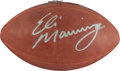 Football Collectibles:Balls, Eli Manning Signed Football....