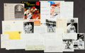 Autographs:Others, Baseball Greats Signed Checks, Letters And Photographs Lot Of25....