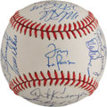 Autographs:Baseballs, 1991 Oakland A's Team Signed Baseball. ...