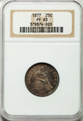 Proof Seated Quarters, 1877 25C PR63 NGC....