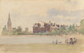 Fine Art - Work on Paper:Watercolor, CAMILLE PISSARRO (French, 1830-1903). Kensington Gardens,London, 1890. Watercolor on laid paper. 6-1/2 x 10 inches(16....