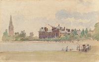 CAMILLE PISSARRO (French, 1830-1903) Kensington Gardens, London, 1890 Watercolor on laid paper 6-